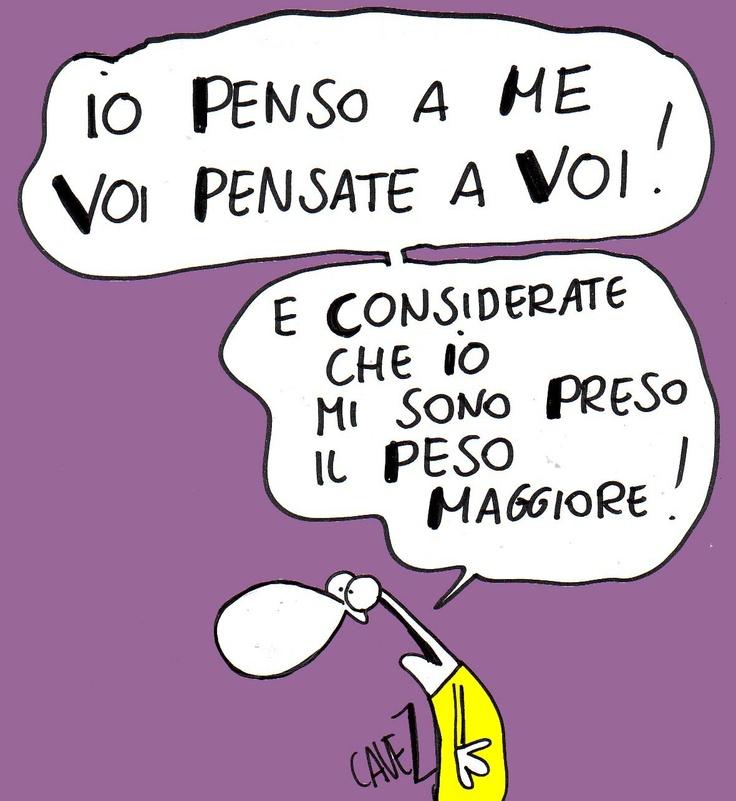 #Vignetta di Massimo #Cavezzali - Io penso a me, voi pensate a voi...