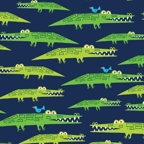 Alligator - broadcloth with pu coating  |  organic fabric GOTS-certified