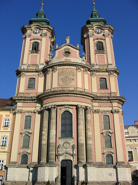 Church Facade in Eger, Hungary