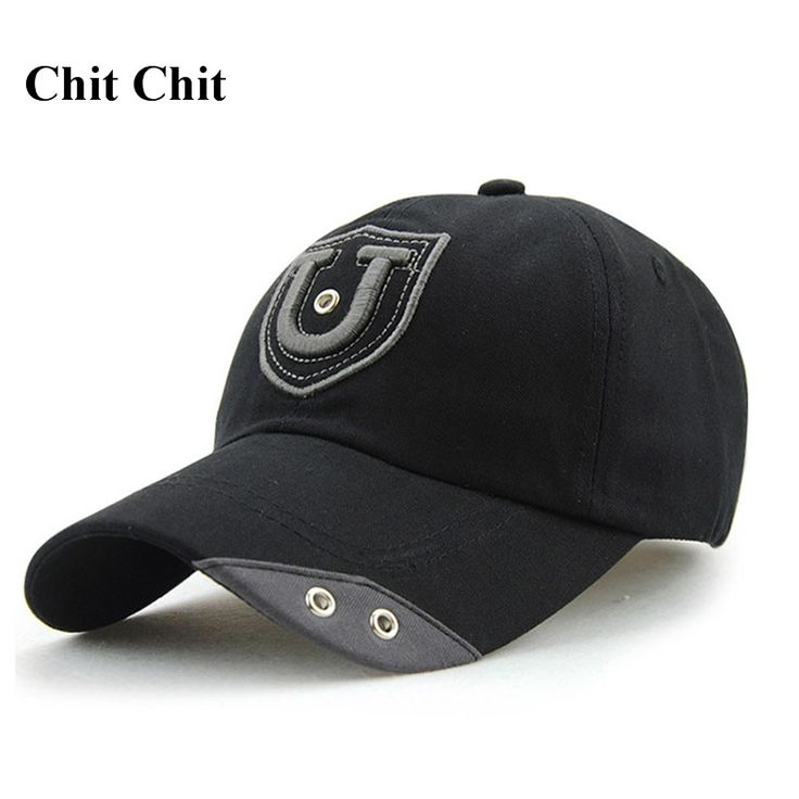 Chit Chit Cotton Casual Embroidery Letter U Baseball Cap Snapback Caps For Men Custom Hats