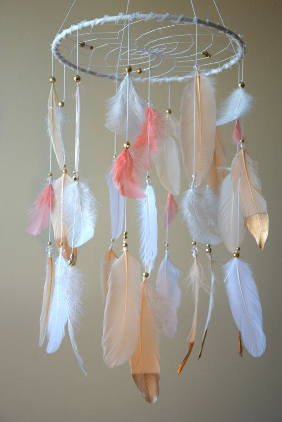 Baby Mobile Dream Catcher Mobile Feather by DreamCatchersByTasha