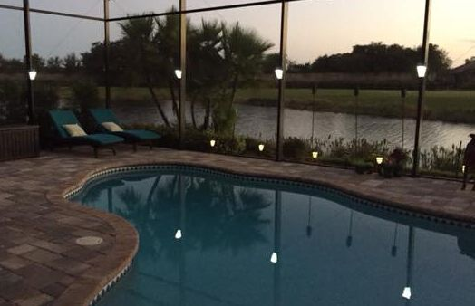 Clip on, Installs in Seconds, Solar Lighting for Lanai Lights, Pool Cage Lights and screen Enclosures