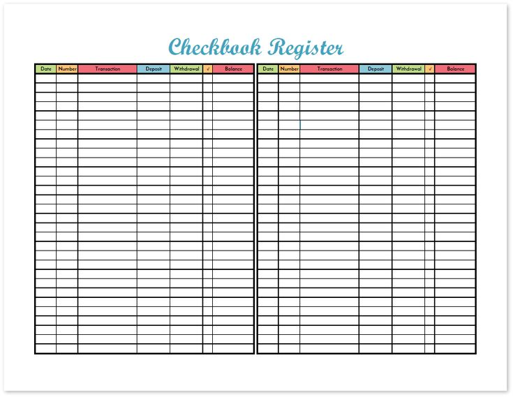 Track all the transactions on your checking account with the checkbook register printable. This free printable budget binder includes 20+ pages of financial printables for 2017. Find out how to set up your binder with the FREE DOWNLOAD and get your finances organized today!
