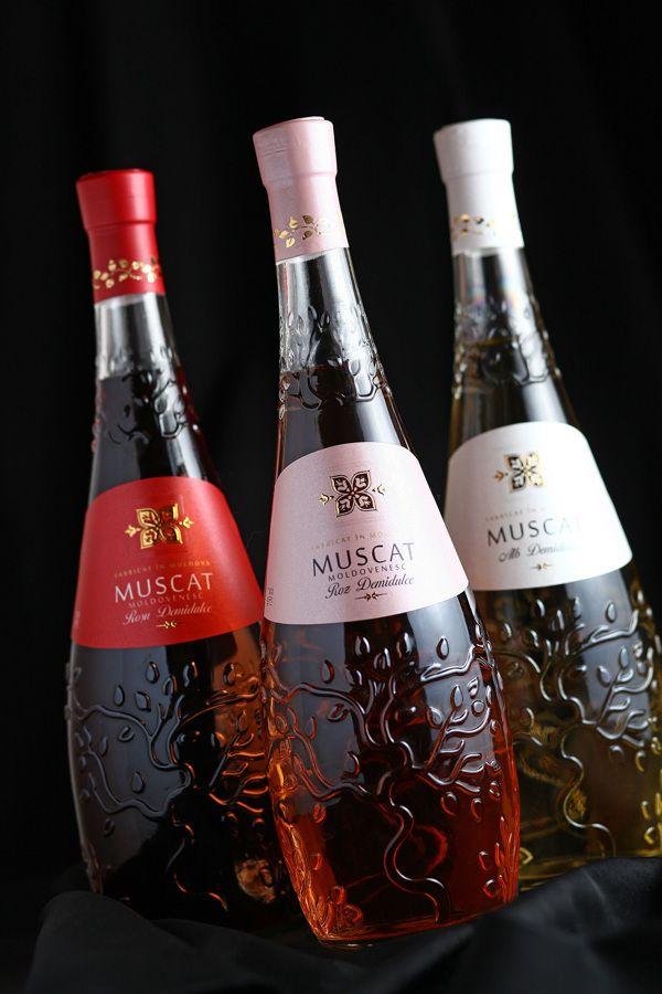 "Wine label design ""Muscat"" by 43oz.com  - Design Studio ., via Behance"