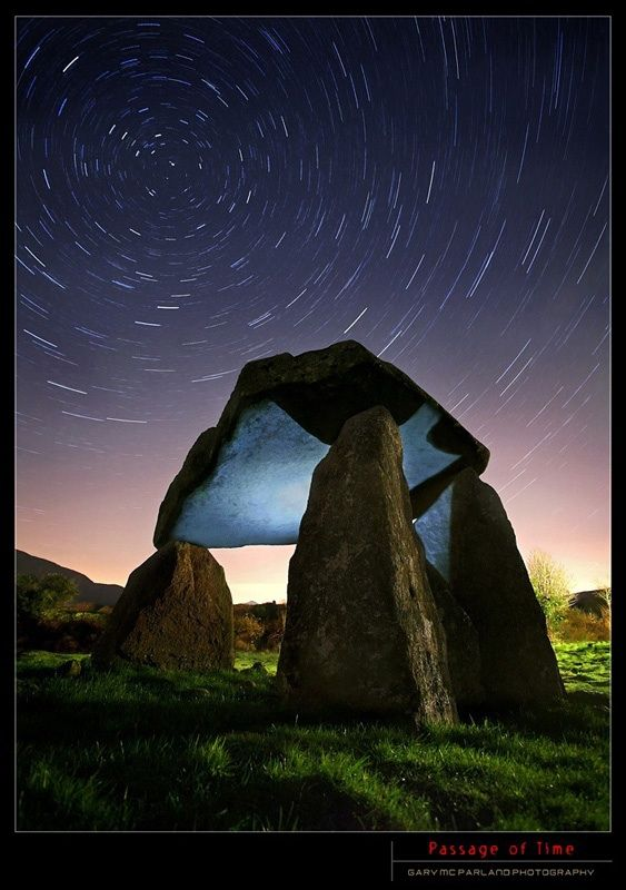 Passage of Time, Star Trails, Ballykeel Dolmen, Armagh, Northern Ireland Copyright: Gary McParland