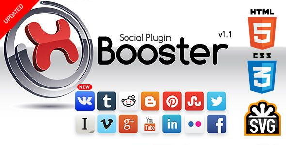 xBooster Social Plugin . xBooster has features such as High Resolution: Yes, Compatible Browsers: IE9, IE10, IE11, Firefox, Safari, Opera, Chrome, Software Version: WordPress 3.8, WordPress 3.7, WordPress 3.6, WordPress 3.5, WordPress 3.4, WordPress 3.3, WordPress 3.2, WordPress 3.1, WordPress 3.0