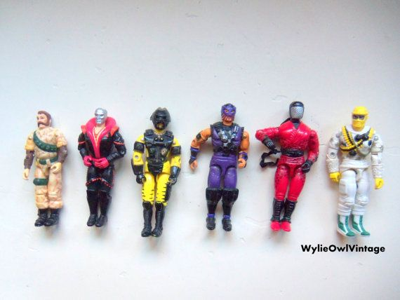 Vintage Lot of 6 GI Joe Action Figures 1990 by WylieOwlVintage, $16.50
