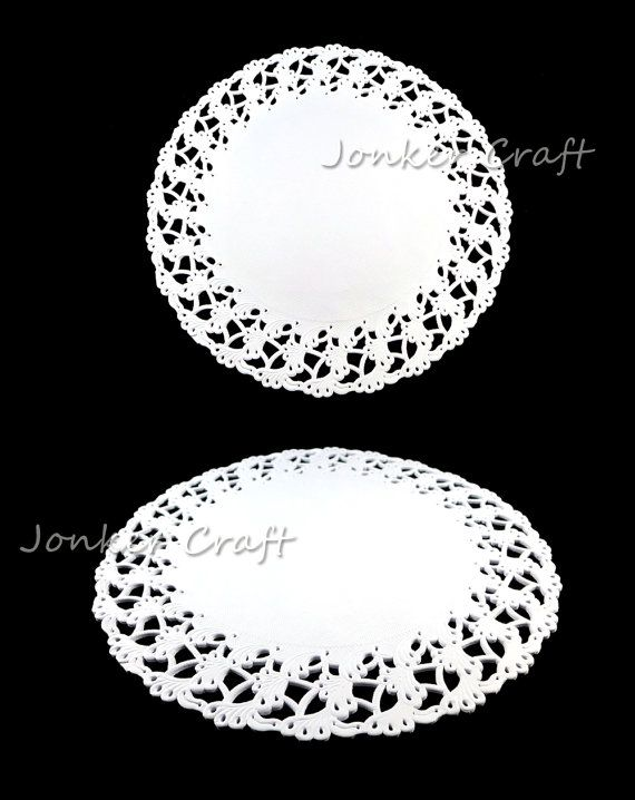 Doily Lace Paper Doilies Doiley Cake Wedding 3 Designs Pure Pulp White