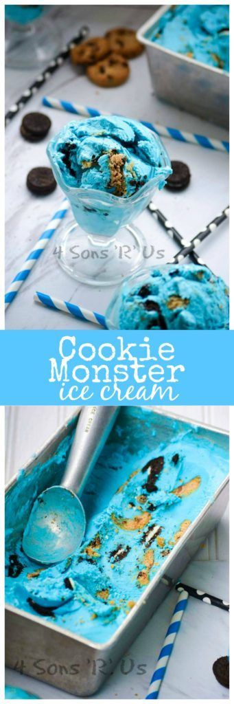 This fun Cookie Monster inspired ice cream is perfect for cookie fans young and old. Creamy, no churn homemade ice cream is studded with two different kinds of cookies for the ultimate indulgent dessert. And of course we dyed it blue because how else would our homage to the beloved Sesame Street character be complete? …