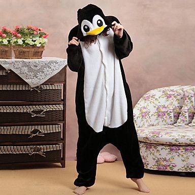 Honnête pingouin noir et blanc Polaire Pyjama Kigurumi Cartoon nuit animale Halloween Costume – EUR € 28.04