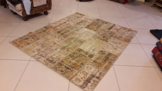 Vintage Patch Work Soft Colored Carpet Rug by OrientArtGallery
