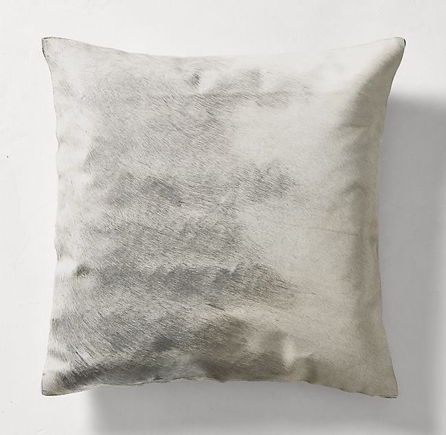 Hand Painted Metallic Hide Pillow Cover Square Pillows Pillow