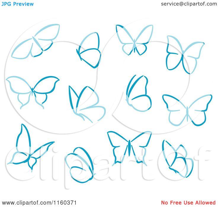 Simple Drawings Of Butterflies Clipart of simple blue