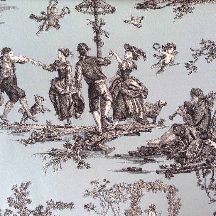 17 best images about toile de jouy on pinterest antiques french and toile - Edredon toile de jouy ...