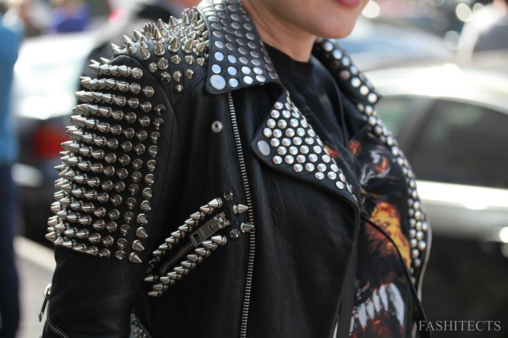 Burberry spiked leather jackets.