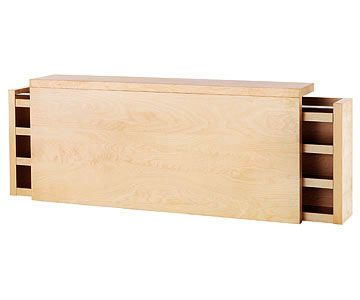 Headboard Storage- Malm queen bed headboard from IKEA 199 usd