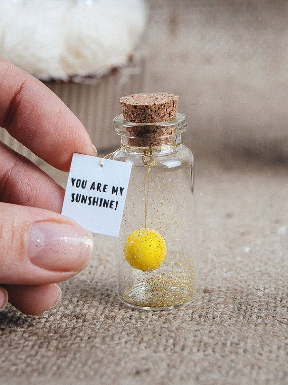 You are my sunshine, Personalized Girlfriend Gift, Romantic Gift for Her, Message in a bottle, Cute Gift, Anniversary gift for wife –