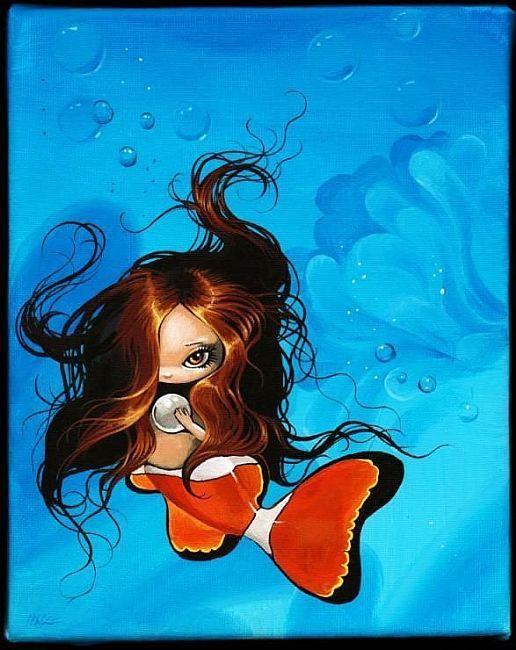 Clownfish Mermaid - by Nico Niemi from mermaids