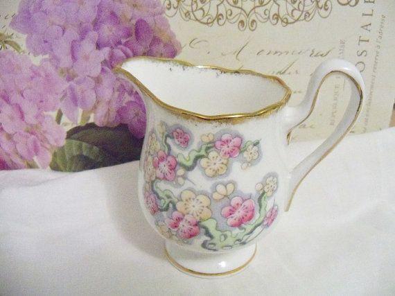 Vintage Royal Albert cream jug fine bone by YorkshireTeaCupShop