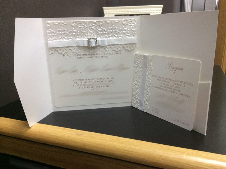 I Decided To Make My Own Wedding Invitations Using My Silhouette Cameo,  Cuttlebug And My Printer. I Bought The Pocket Folders So I Wouldnu0027