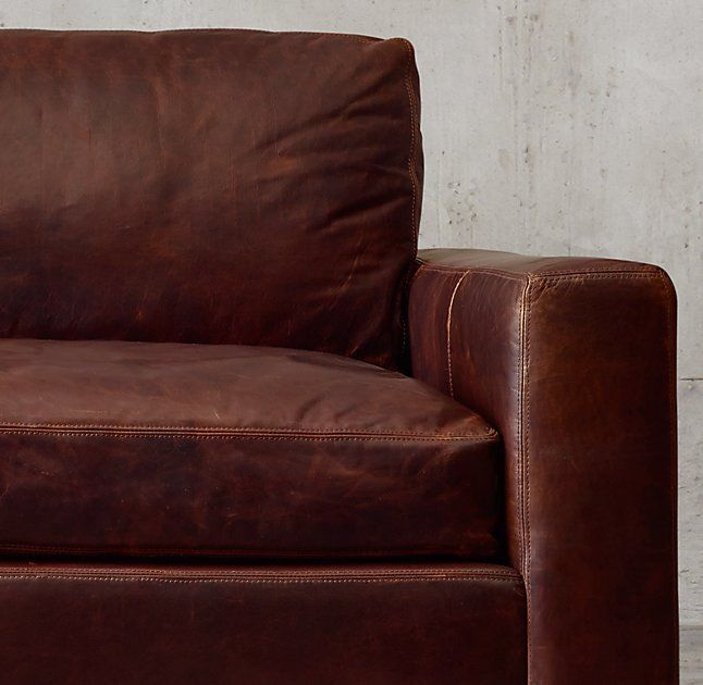 rhu0027s petite maxwell leather streamlined design features a low back and wide squaredoff seat and back cushions our petite size collections