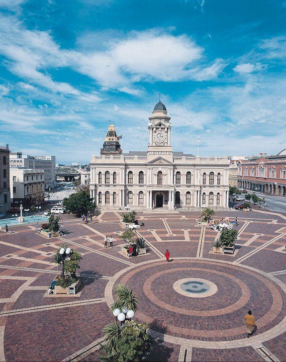 Port Elizabeth - South Africa. The town hall and market square.