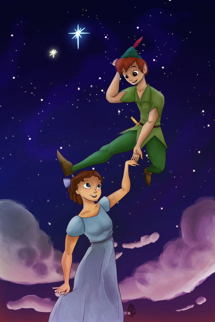 Peter Pan and Wendy by amsuherdi1111.deviantart.com on @DeviantArt
