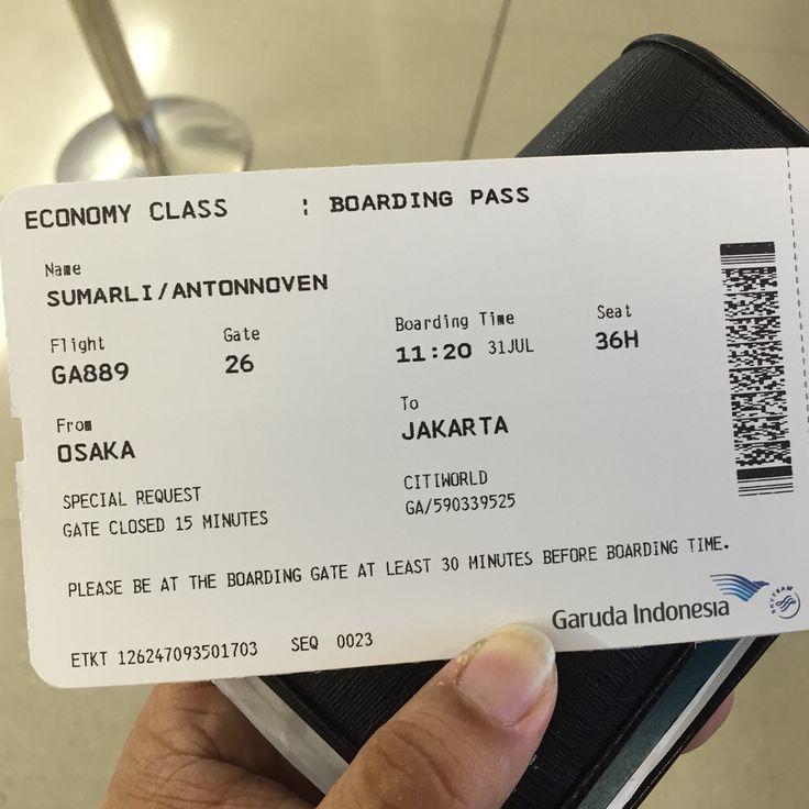 GA 889 Osaka To Jakarta 31 July 2015