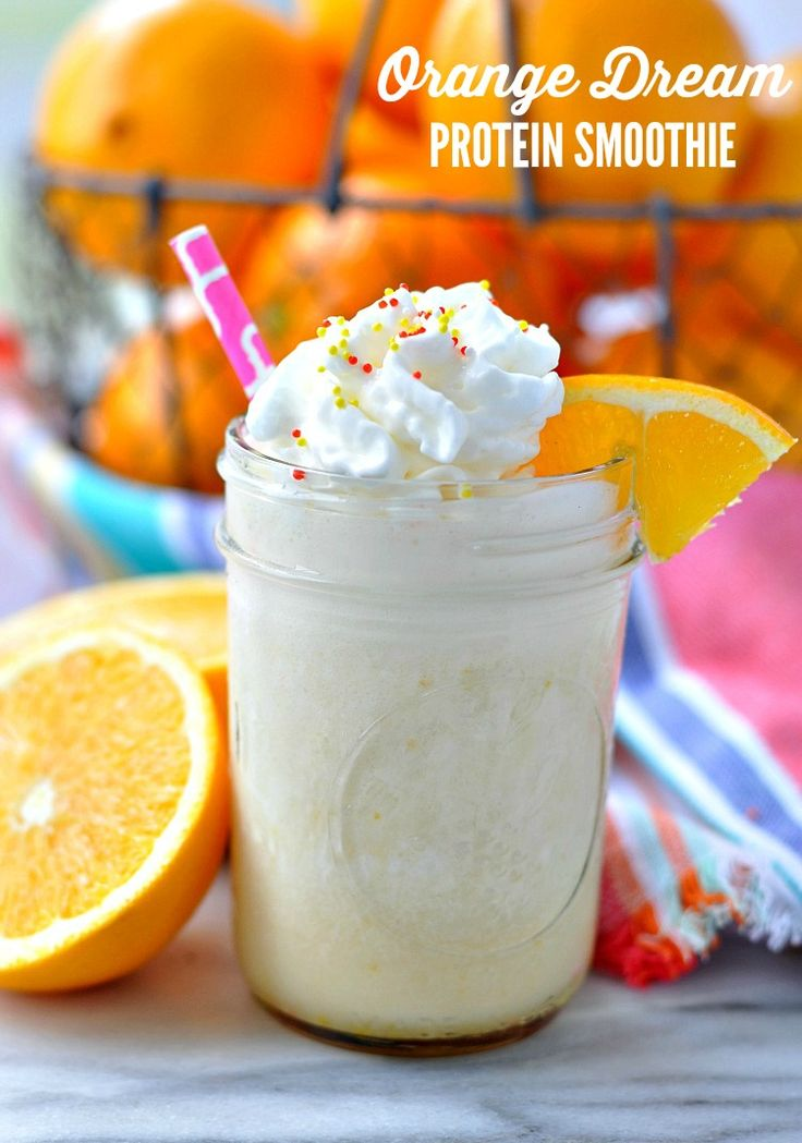 A thick, creamy, and refreshing Orange Dream Protein Smoothie is the perfect healthy breakfast for busy mornings! Packed with bright citrus, warm vanilla, and plenty of protein, this is a dairy-free clean eating breakfast that tastes like a delicious treat!