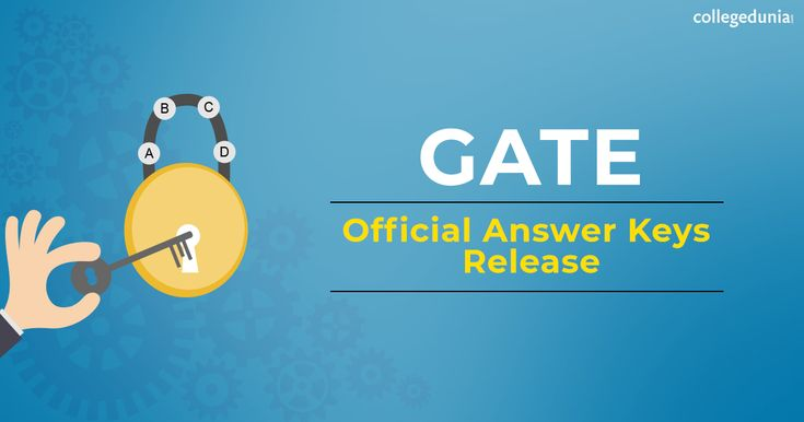 Gate 2018 official answer key release