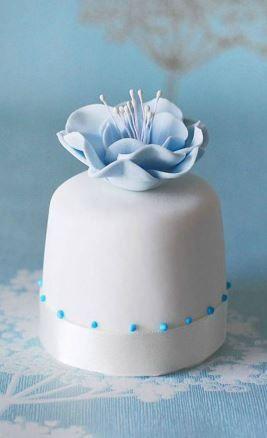 Blue Flower Mini Cake