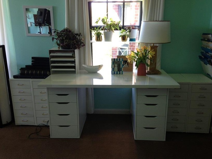 This IKEA USA desk will be AWESOME for Fran's crafting! Nice choice in functionality and design, Emily Henderson!
