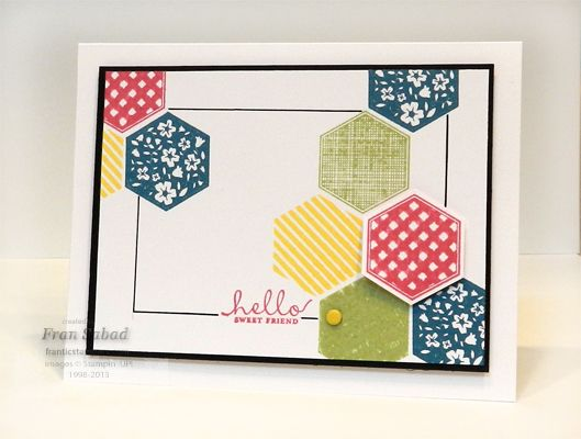 Love this card made with the Six Sided Sampler set!