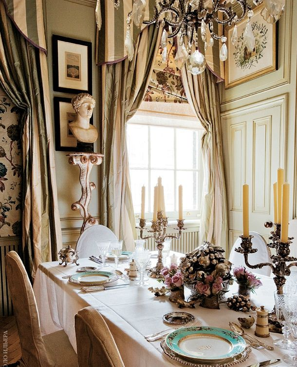 Paolo Moschino design ~ his London dining room