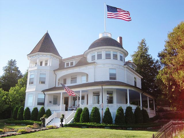 "Mackinac Island, MI - West Bluff    ""Edgecliff""  Built in 1892  #Victorian #House"