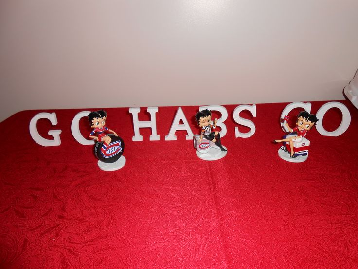 Montreal Canadiens Habs Betty Boop Figurines.