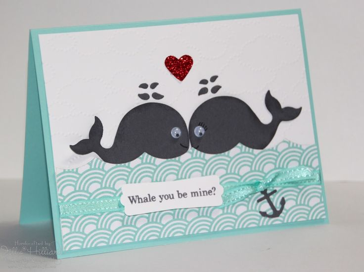 Jill's Card Creations: Whale you be Mine?