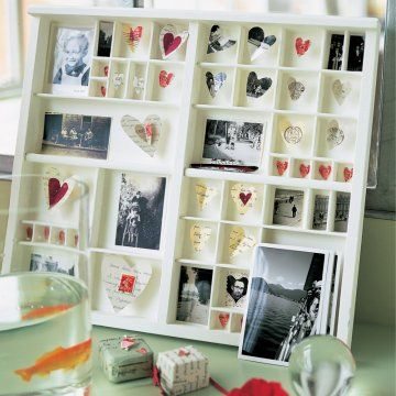 Des photos dans un casier d'imprimeur / Pictures in a print rack