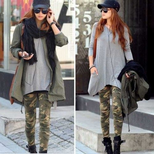 Legging militaire leggings military camouflage sexy fashion ref-01