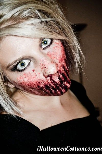 bloody zombie makeup for Halloween - Halloween Costumes 2013