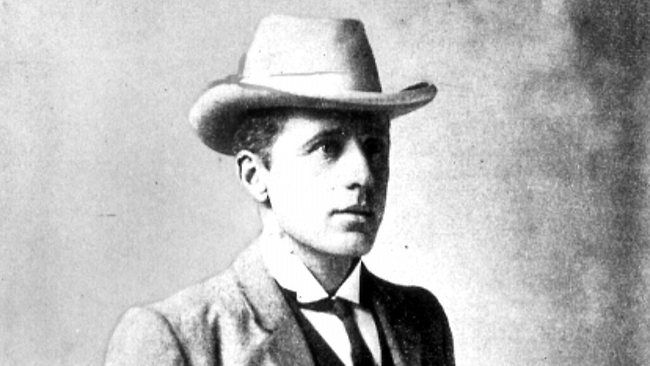 Australian author and poet Andrew Barton 'Banjo' Paterson in 1905.