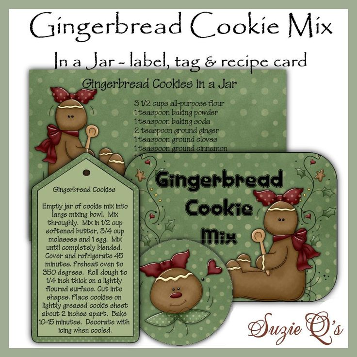 Make Your Own Gingerbread Cookie Mix In A Jar