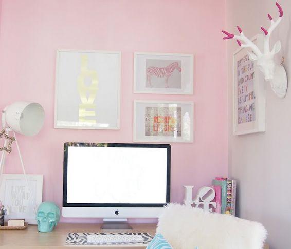 Girly Office Space Cute But Take Those Dumb Deer Antler Away