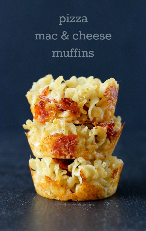 Pizza Macaroni and Cheese Muffins on RachelCooks.com