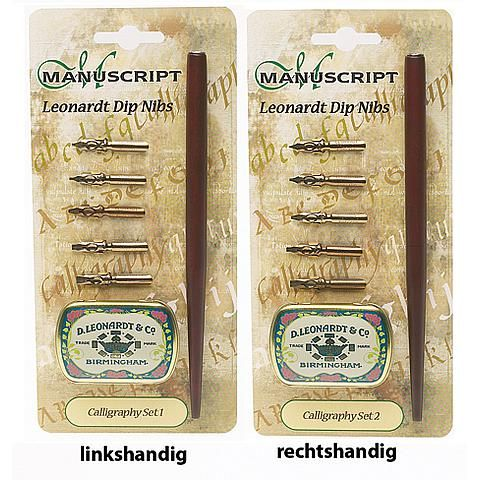 Italic pen cursief - Manuscript - Kalligrafie pennen - Tekenmateriaal - Producten - Van der Linde