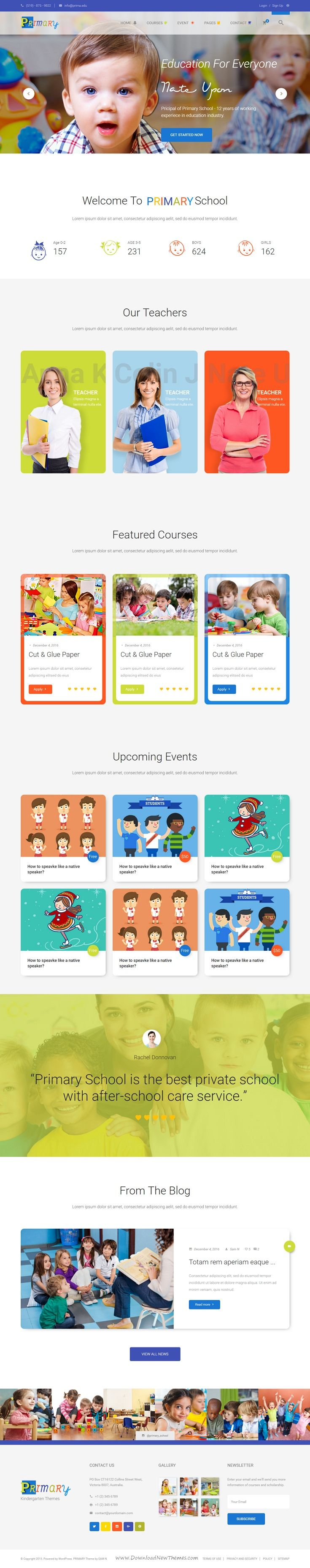 Primary is a nice and creative #Kids & Kindergarten #School Bootstrap HTML…
