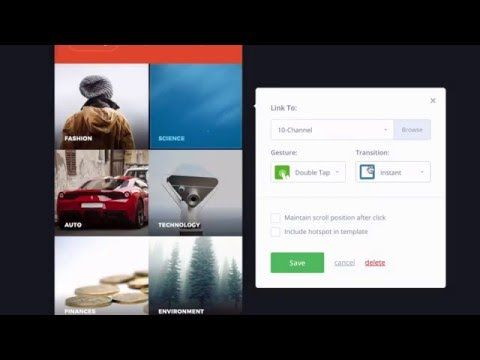 How to create an interactive prototype with InVision - YouTube