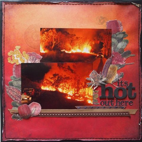It's Hot Out Here page created with Kaisercraft Great Southern Land by Teena Hopkins for My Scrappin' Shop.