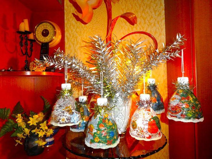 Новогодние колокольчики из бутылок! Morskay10 » Женский Мир