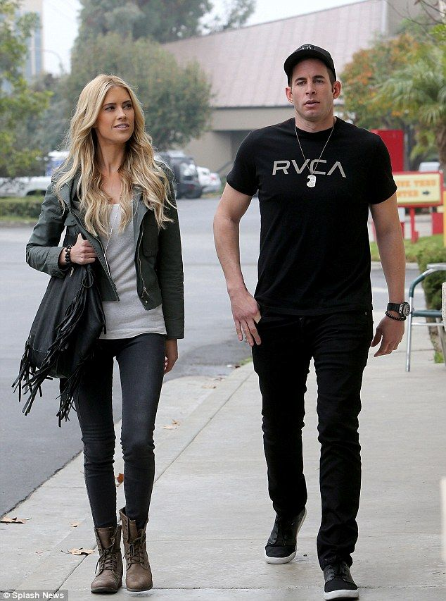 Getting along: Tarek and Christina El Moussa looked to be getting along when spotted together Thursday. The couple announced their separation on Monday